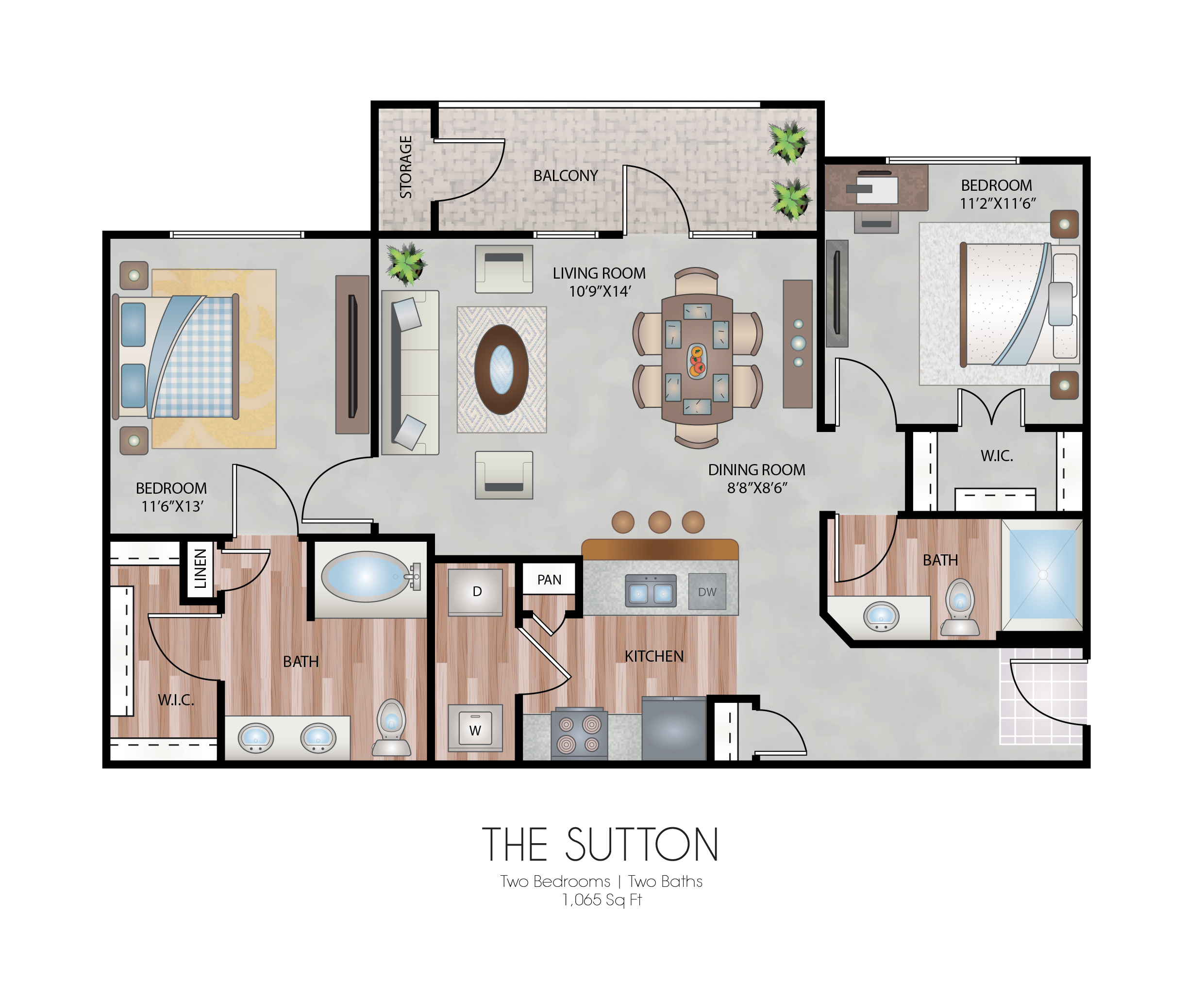 Oxford at Country Club - Floorplan - The Sutton