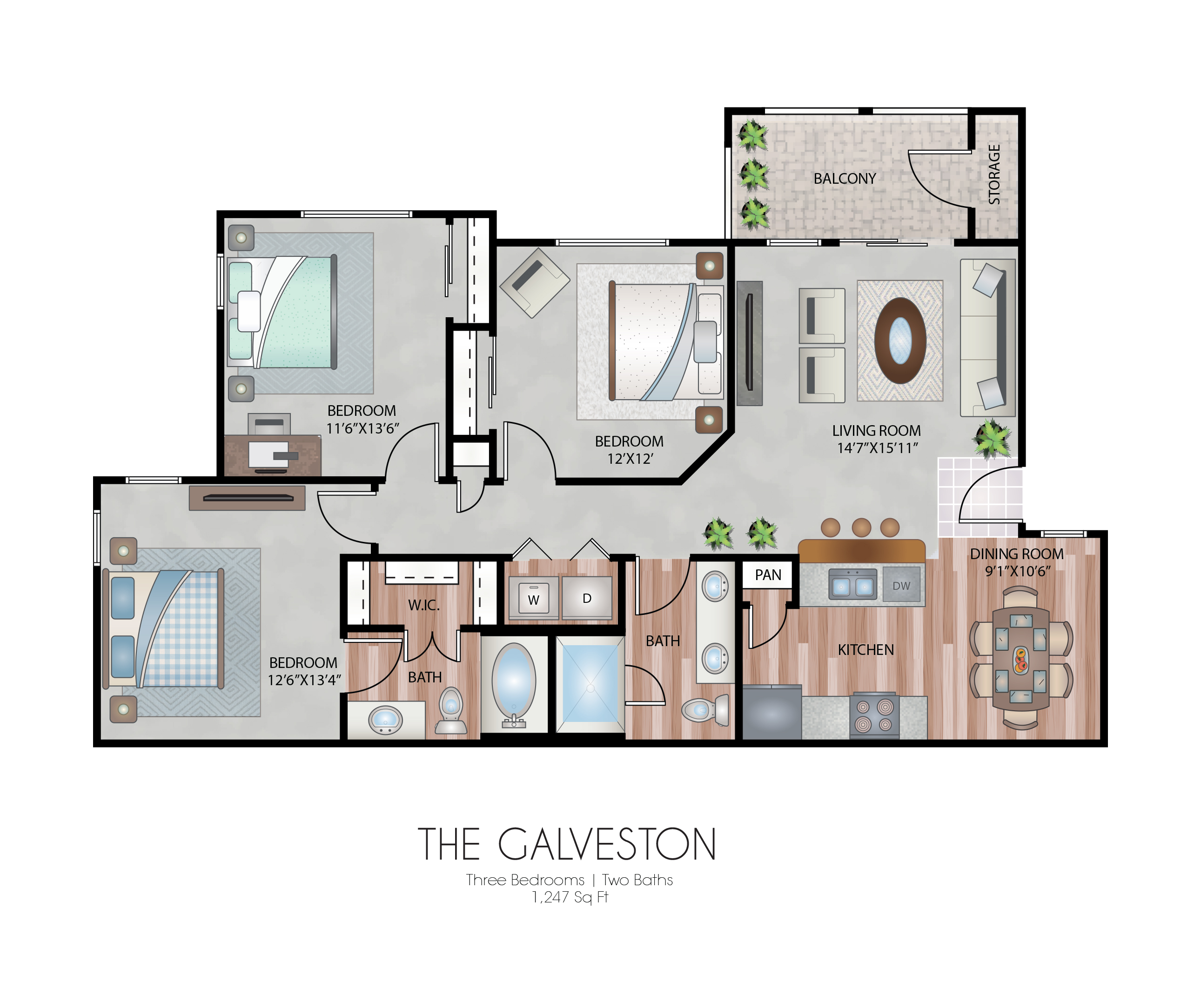 Oxford at Country Club - Floorplan - The Cattail