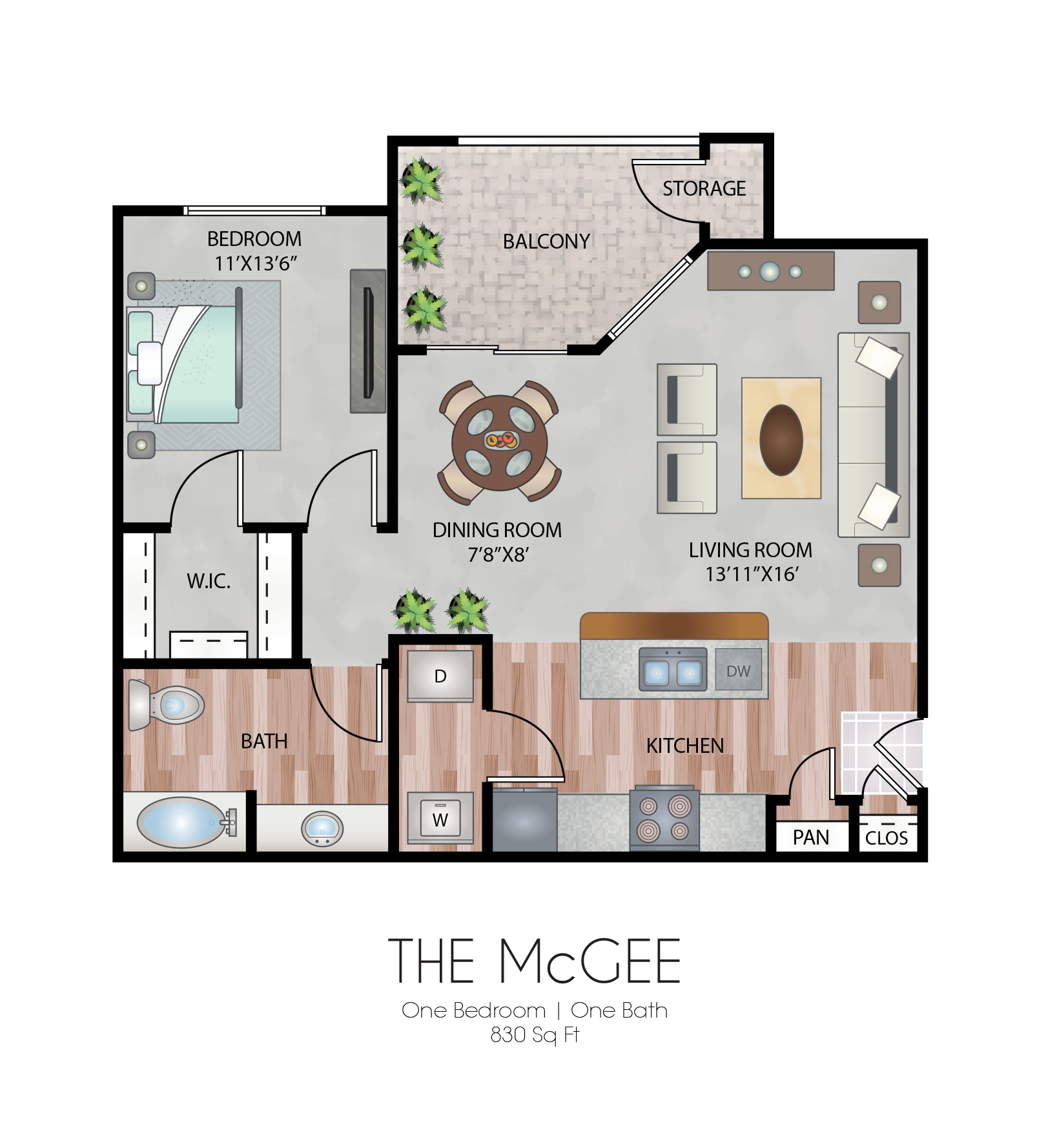 Oxford at Country Club - Floorplan - The McGee