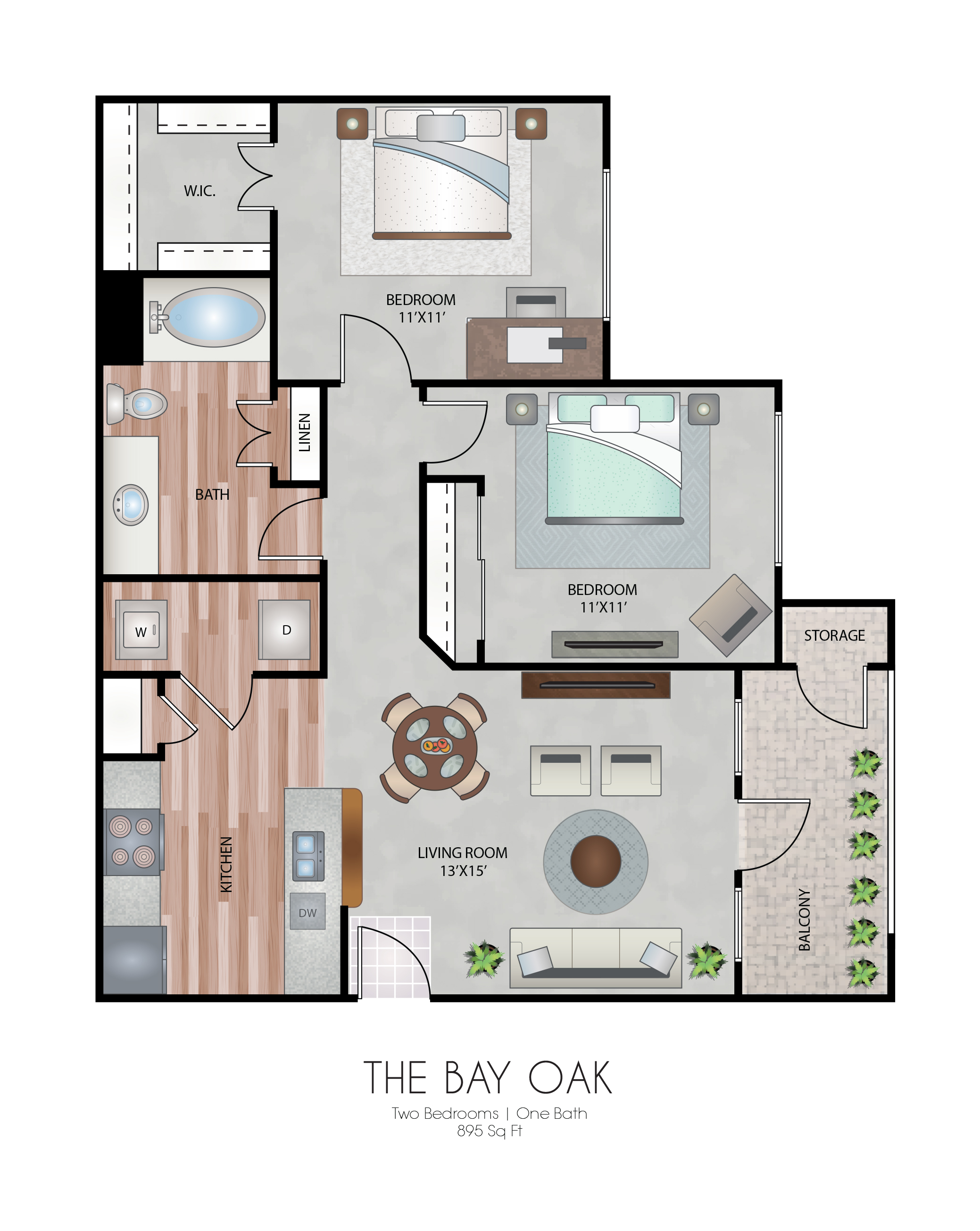 Oxford at Country Club - Floorplan - The Bay Oak