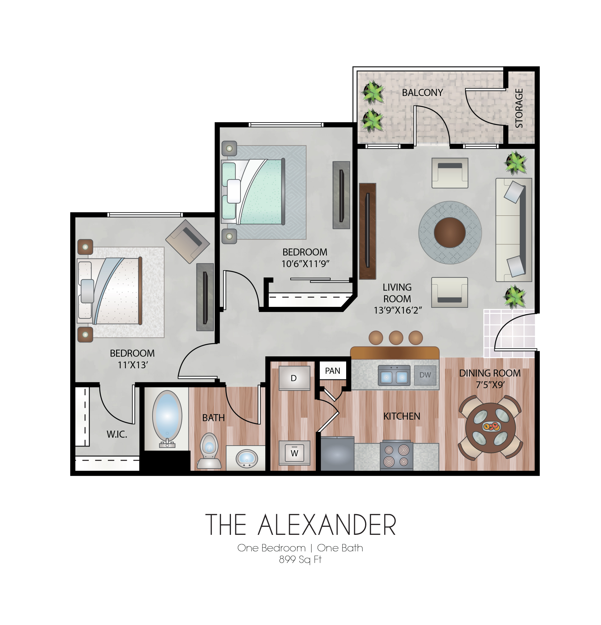 Oxford at Country Club - Floorplan - The Alexander