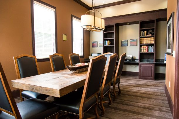 Office Area at the Oxford at Country Club Apartments in Baytown, TX