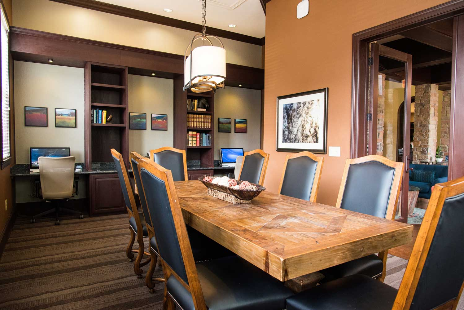 Conference Room at the Oxford at Country Club Apartments in Baytown, TX