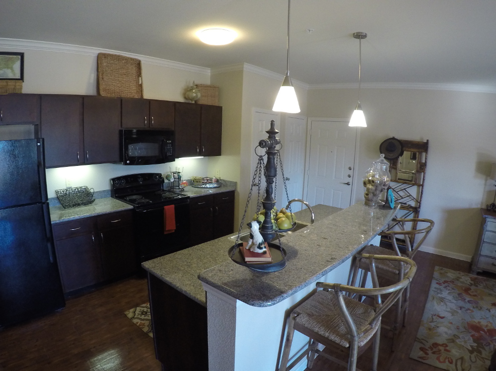 Designer Cabinetry at the Oxford at Country Club Apartments in Baytown, TX