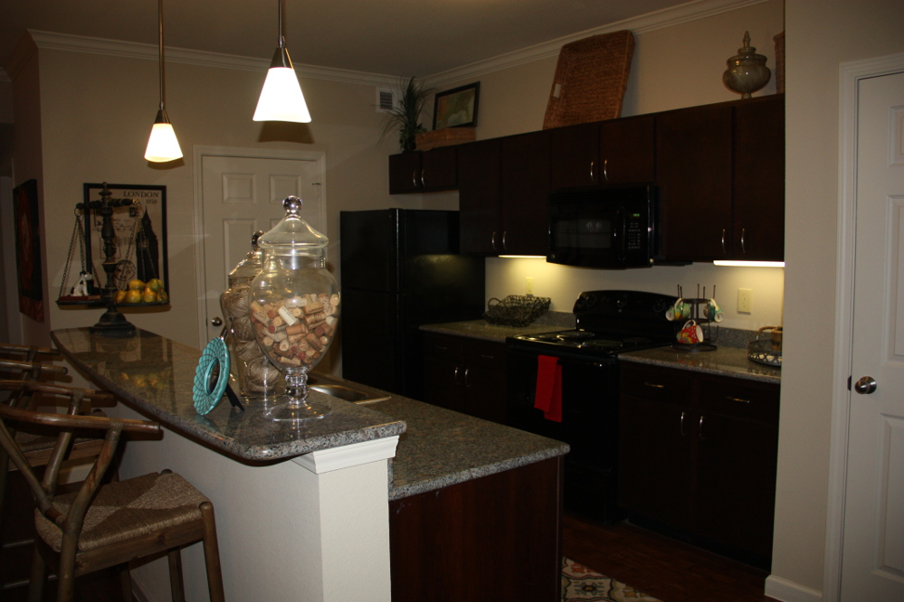 Ample Counterspace at the Oxford at Country Club Apartments in Baytown, TX