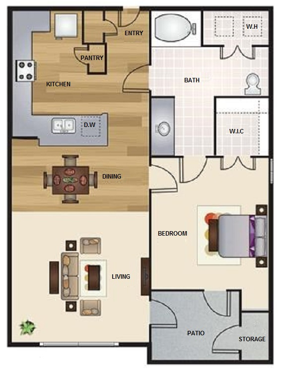 Floorplan - A3- The Lounge image