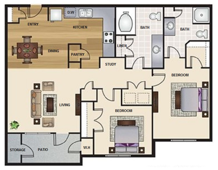 Floorplan - B2- The Haven image