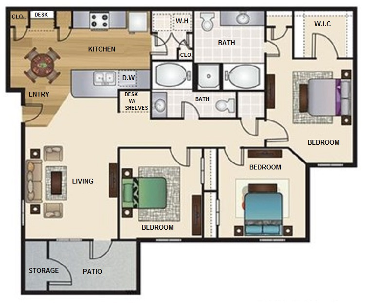 Floorplan - C1- The Sanctuary image