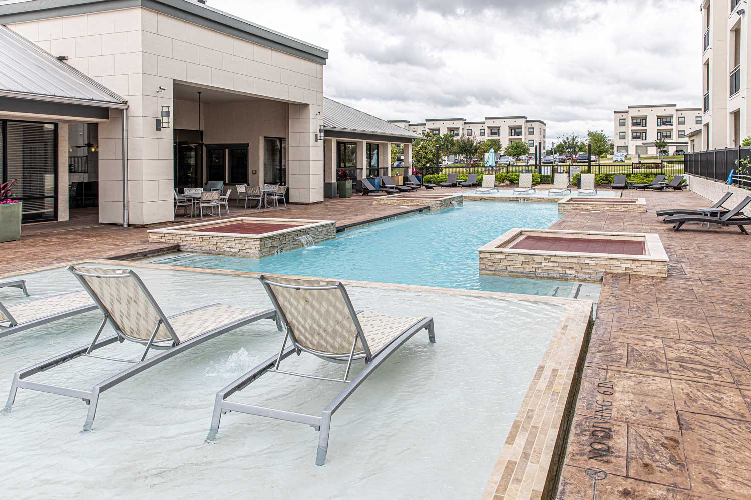 Swimming Pool at Oxford at Crossroads Centre Apartments in Waxahachie, TX