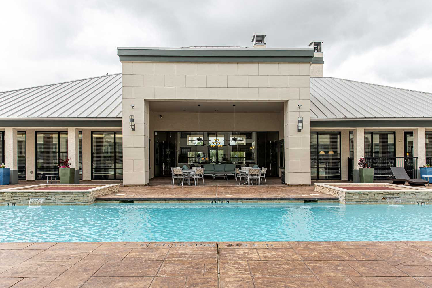 Resort style Pool at Oxford at Crossroads Centre Apartments in Waxahachie, TX