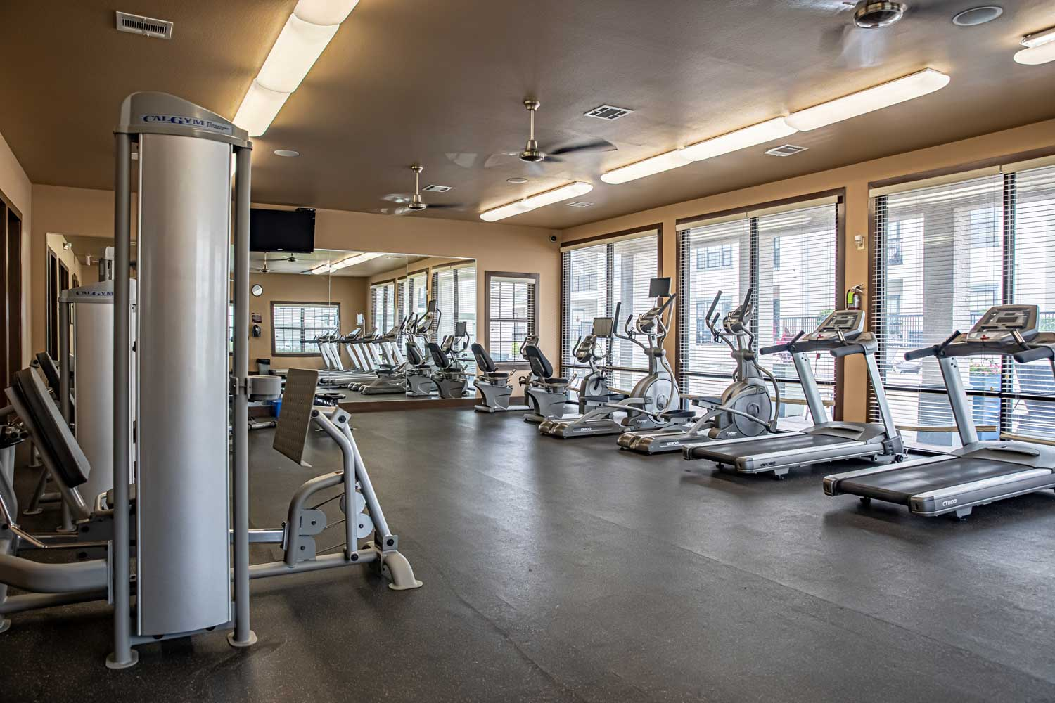 On Demand Fitness Center at Oxford at Crossroads Centre Apartments in Waxahachie, TX