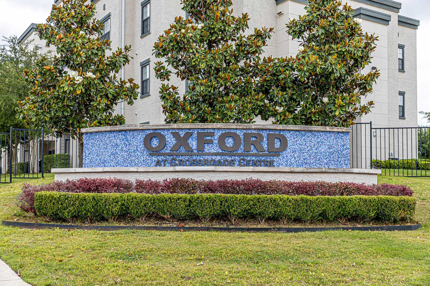 Welcome Signage at Oxford at Crossroads Centre Apartments in Waxahachie, TX