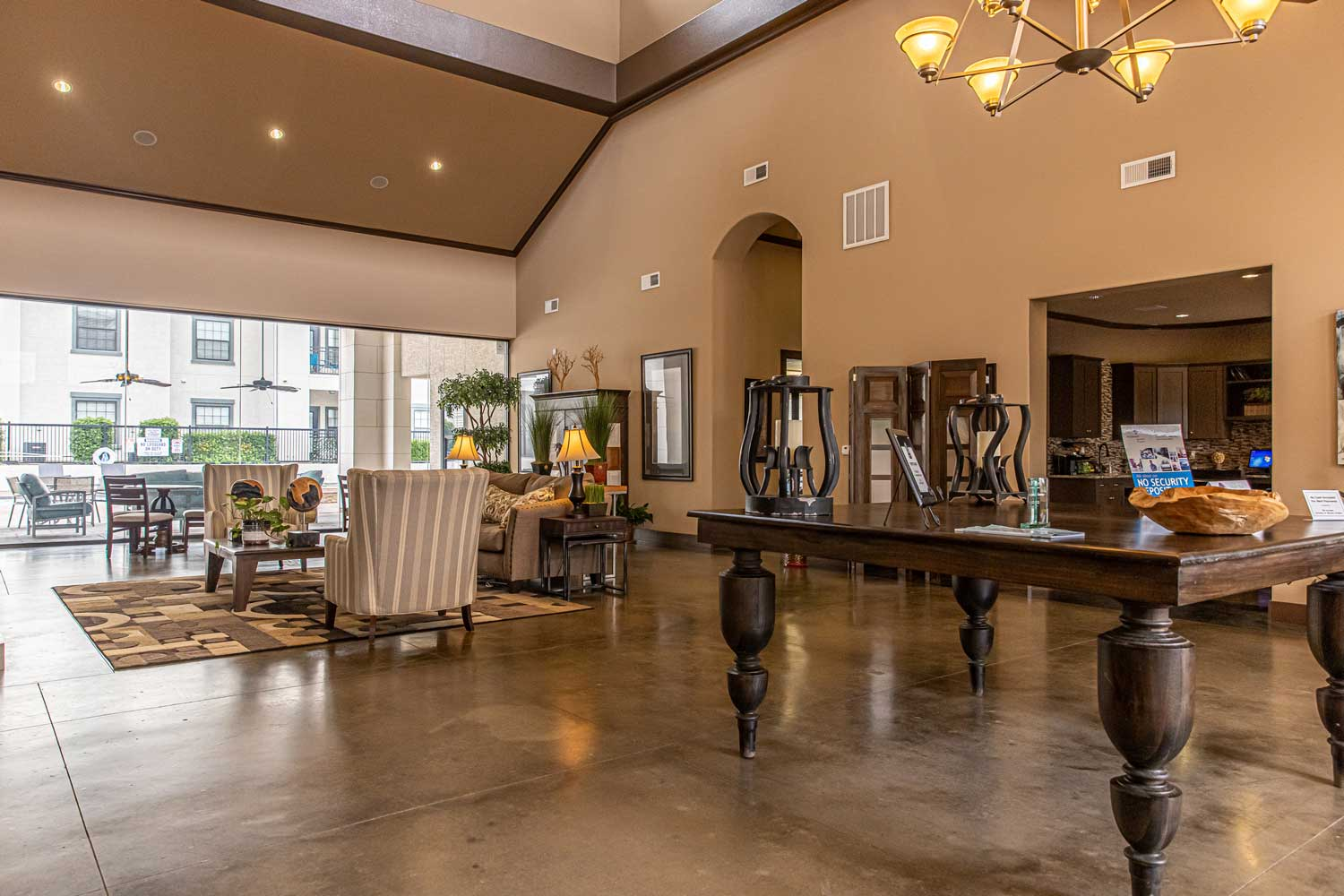 Elegant Clubhouse at Oxford at Crossroads Centre Apartments in Waxahachie, TX