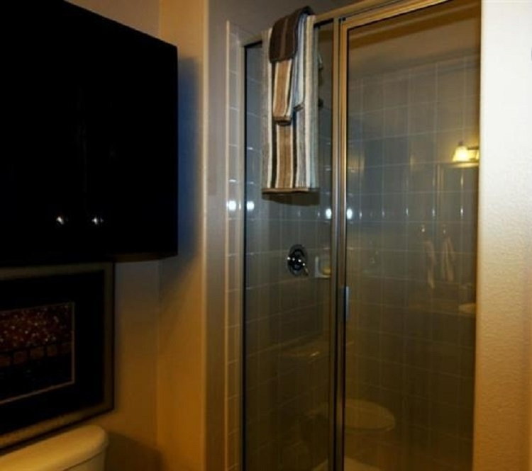 Walk-In Shower at Oxford at Crossroads Centre Apartments in Waxahachie, TX