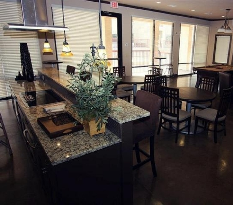 Community Kitchen at Oxford at Crossroads Centre Apartments in Waxahachie, TX