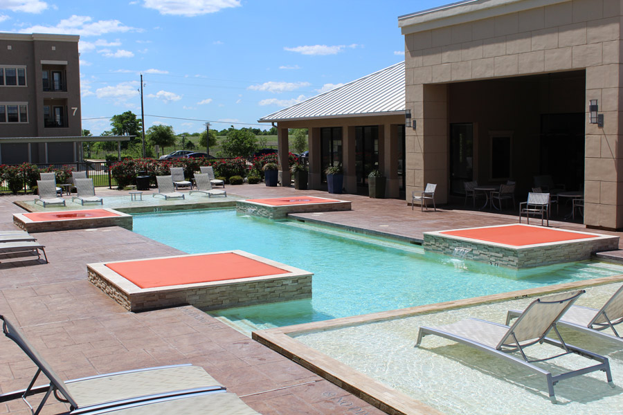 Sparkling Swimming Pool at Oxford at Crossroads Centre Apartments in Waxahachie, TX