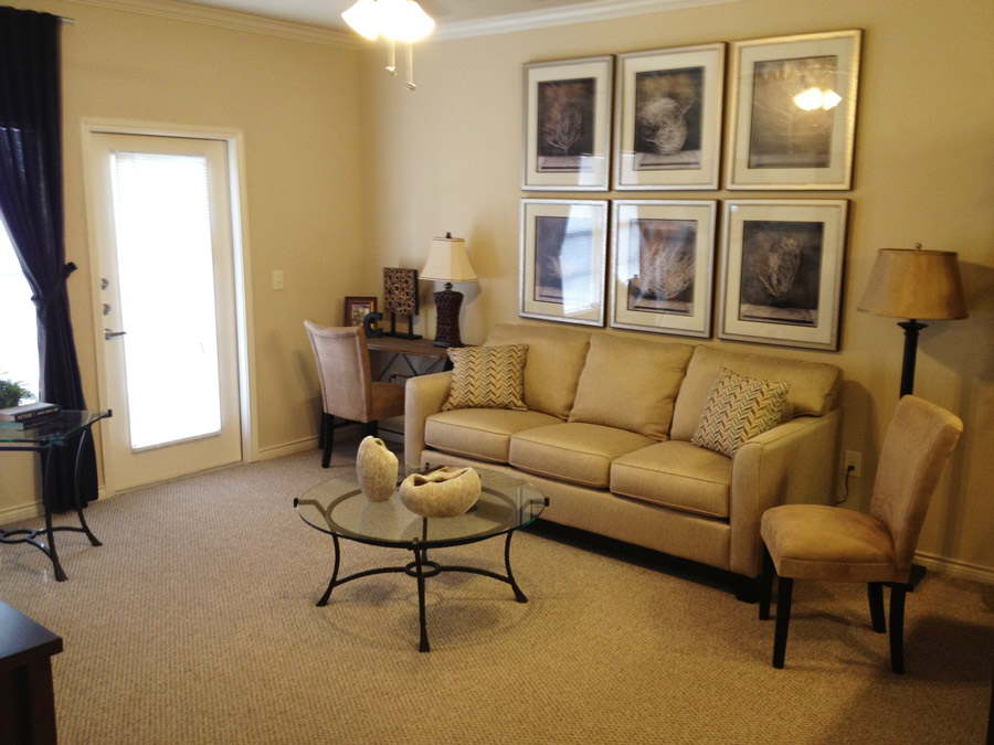 Spacious Living Area at Oxford at Crossroads Centre Apartments in Waxahachie, TX