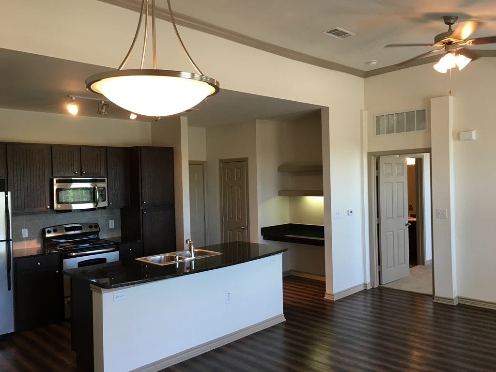 Resident Kitchen at The Oxford at Iron Horse Apartments in North Richland Hills, TX
