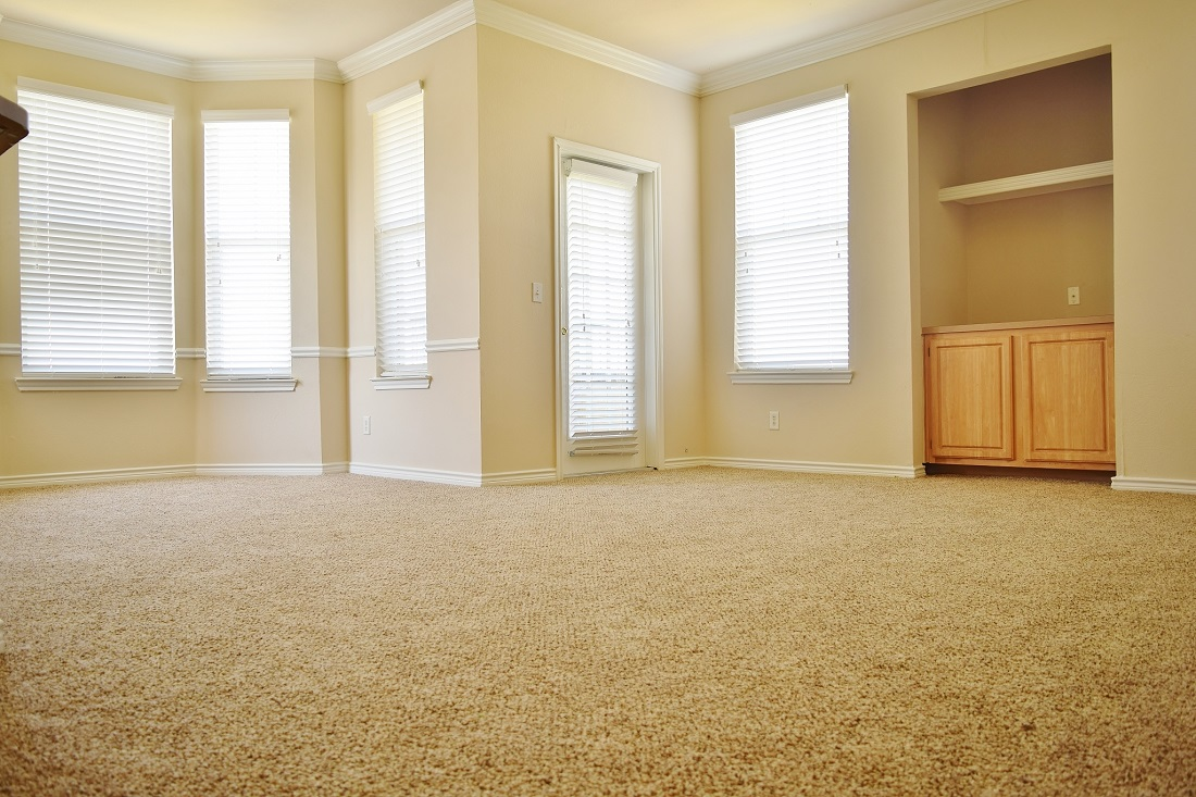 Carpeted Flooring at The Oxford at Iron Horse Apartments in North Richland Hills, TX