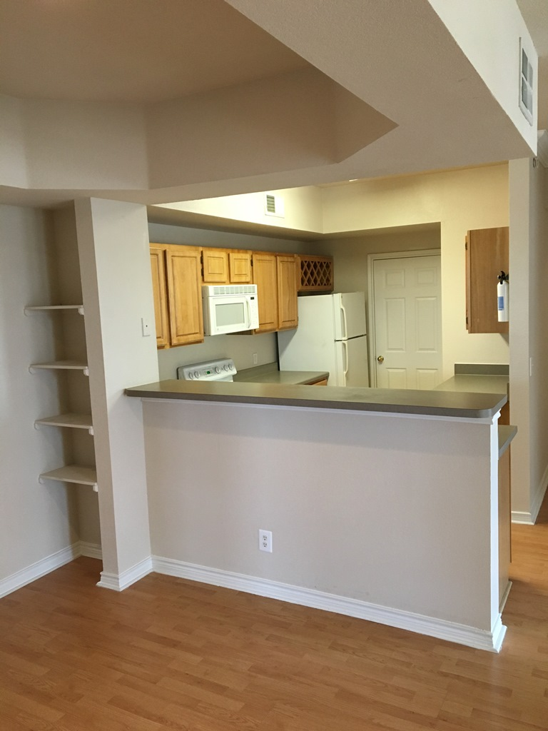 Kitchen at The Oxford at Iron Horse Apartments in North Richland Hills, TX