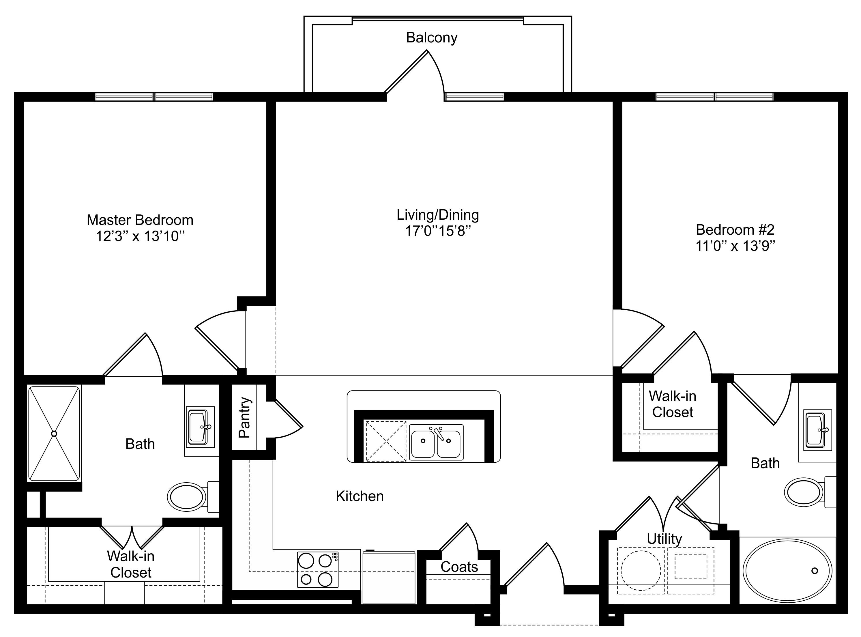 Oxford at Lake View - Floorplan - B1