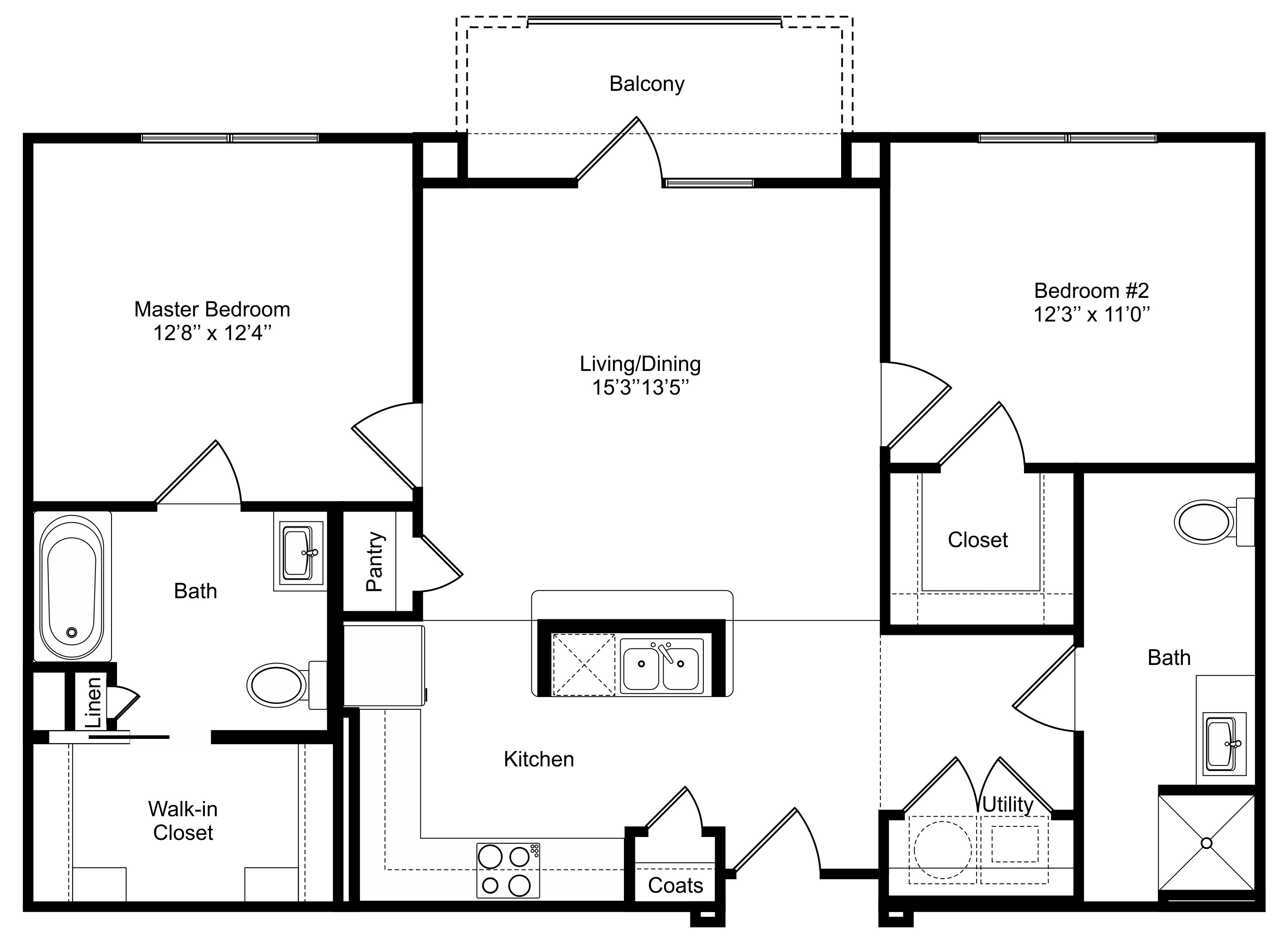 Oxford at Lake View - Floorplan - B1a