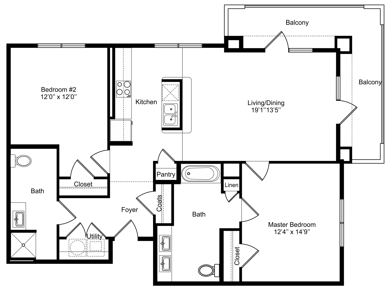 Oxford at Lake View - Floorplan - B2a