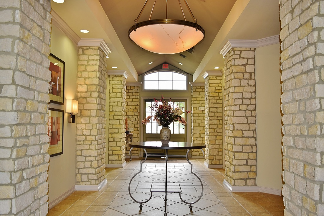 Front Lobby at Oxford at Lake Worth Apartments in Fort Worth, TX