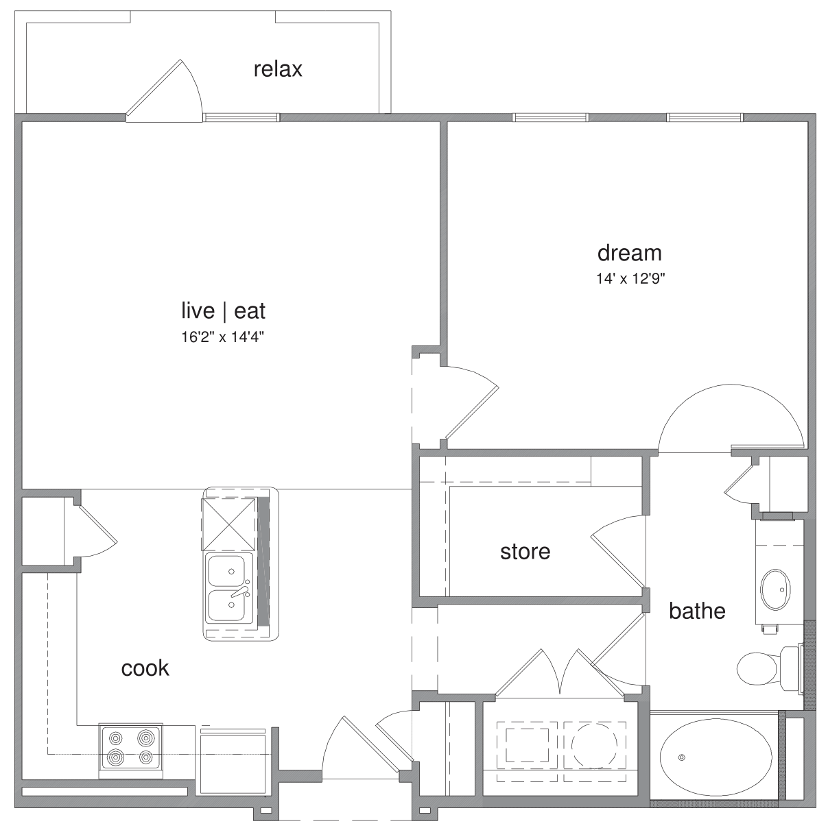 Oxford at The Boulevard - Floorplan - Parker