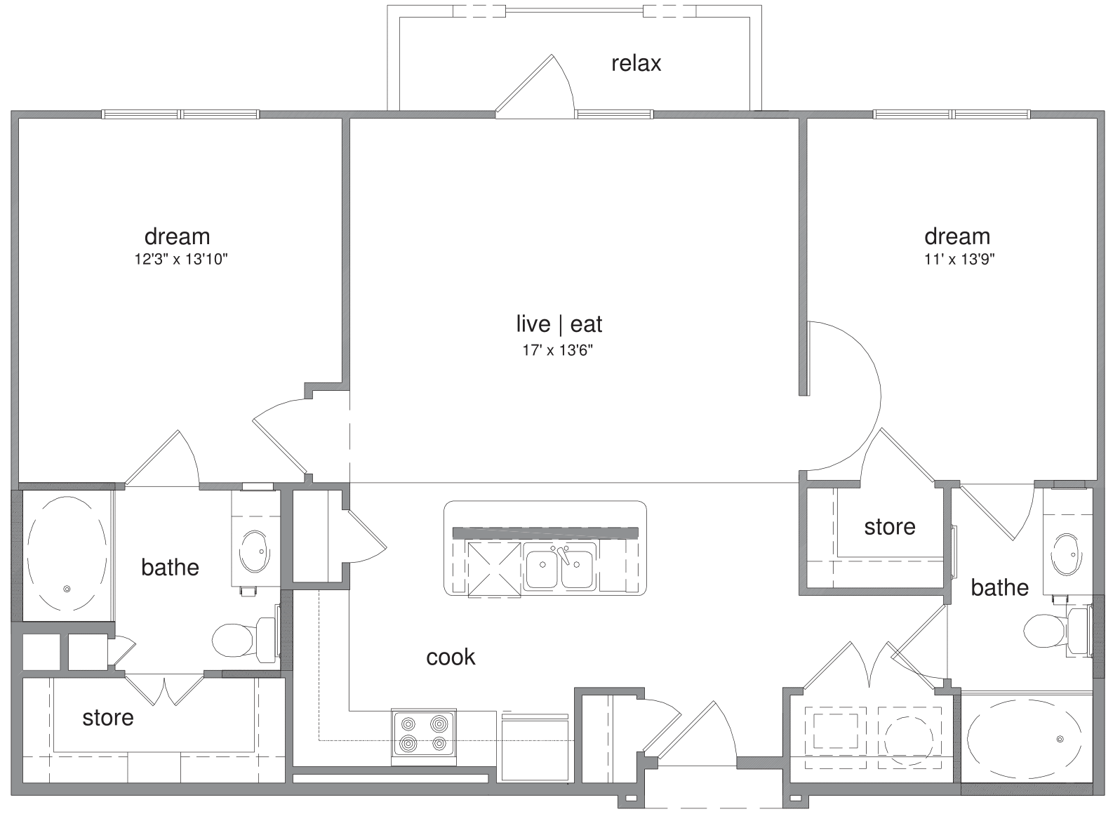 Oxford at The Boulevard - FloorPlan - Lawrence