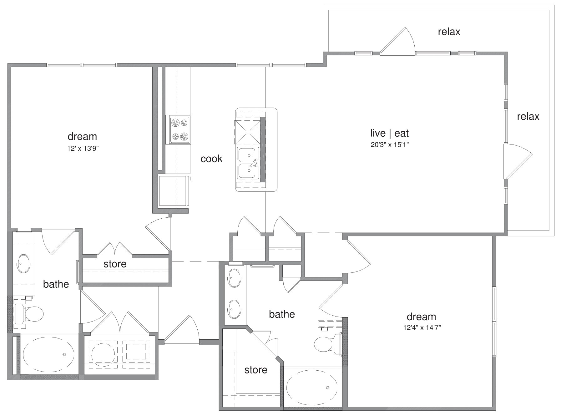 Oxford at The Boulevard - FloorPlan - Harrison
