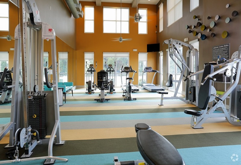 Fitness Center at The Oxford at The Boulevard Apartments in Corinth, TX