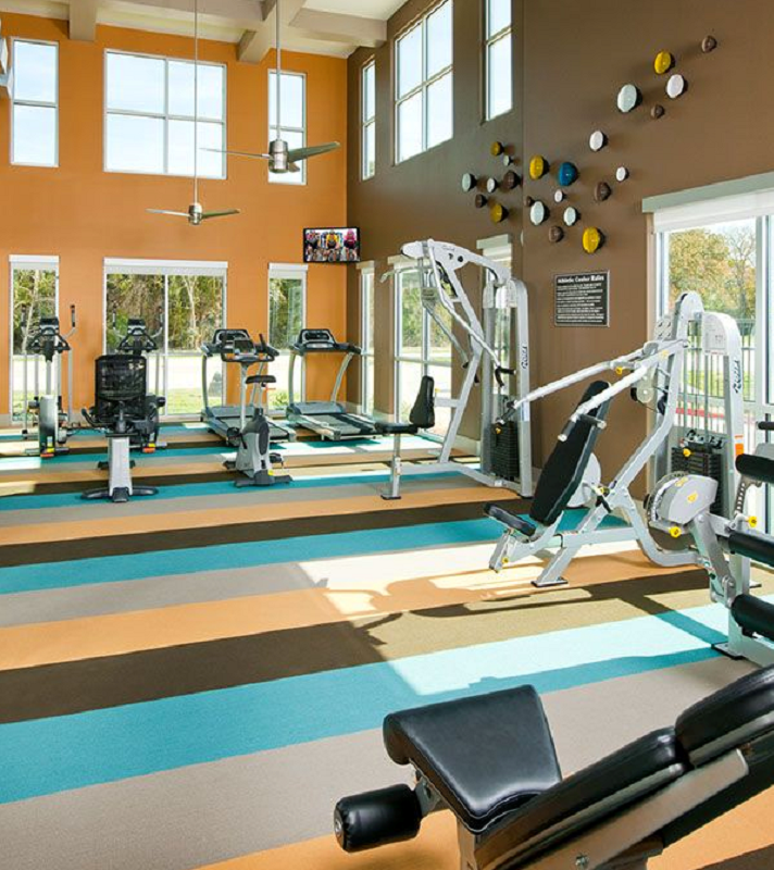 Fitness Equipment at The Oxford at The Boulevard Apartments in Corinth, TX