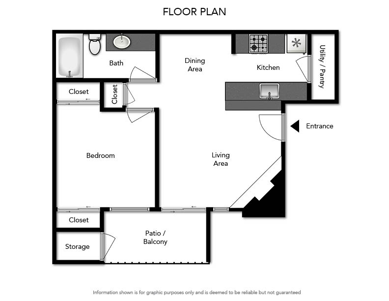 Pacifica Apartments - Floorplan - A1 595