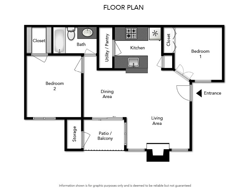 Pacifica Apartments - Floorplan - B1 780