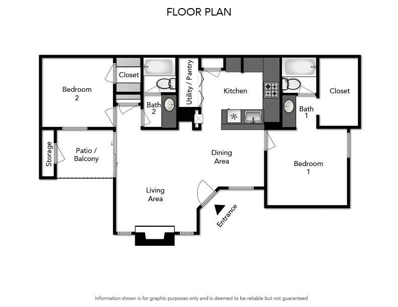 Pacifica Apartments - Floorplan - B2 1020