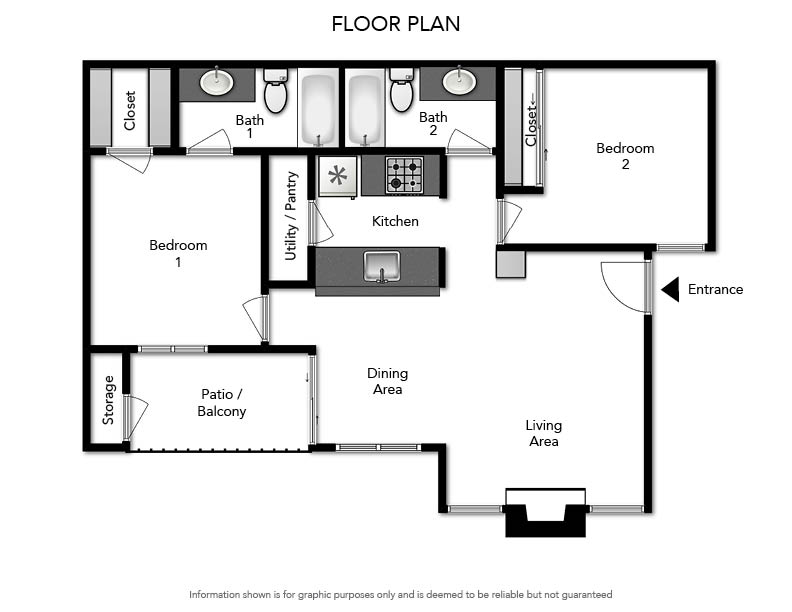Pacifica Apartments - Floorplan - B2 879