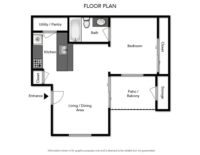Pacifica Apartments - Floorplan - Efficiency 509