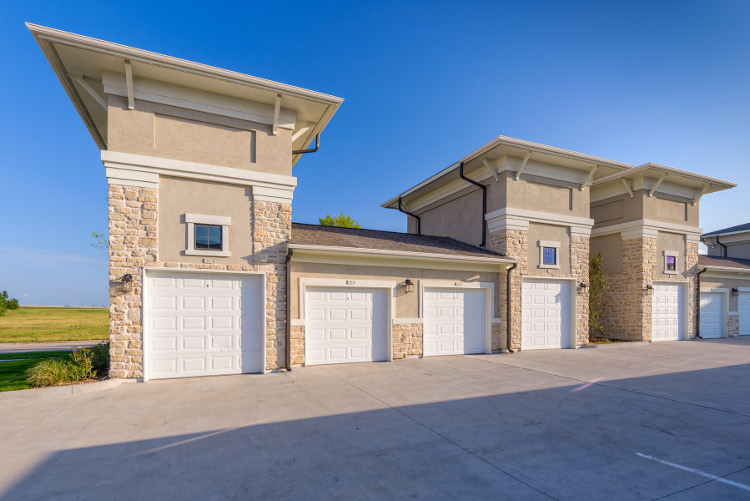 Garage at The Heights at Harper's Preserve Apartments in Conroe, TX