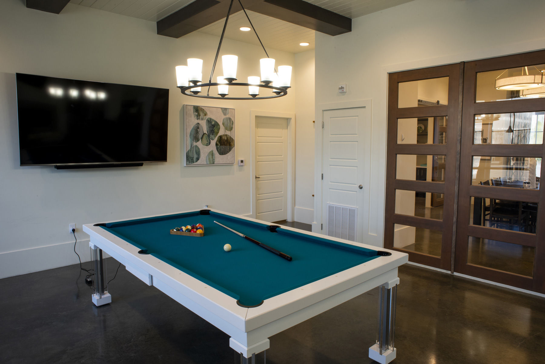 Residential Game Room at The Palms at Juban Lakes Apartments in Denham Springs, Louisiana
