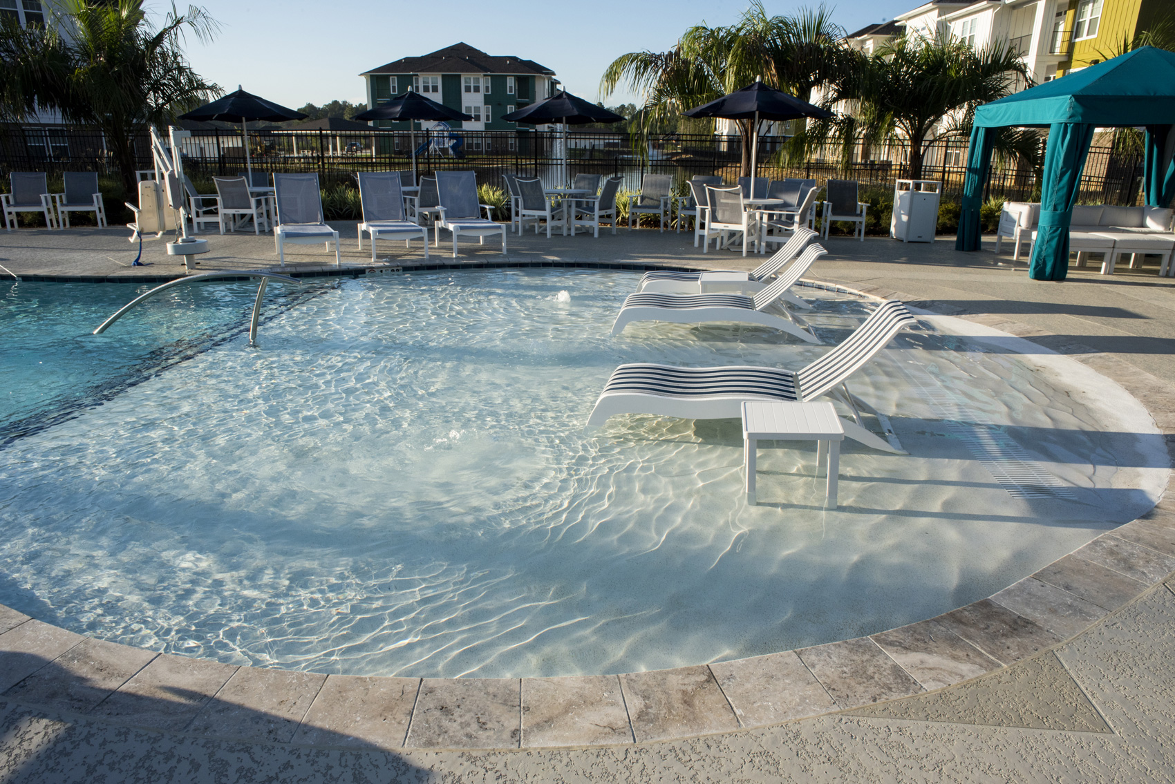 Sparkling Swimming Pool at The Palms at Juban Lakes Apartments in Denham Springs, Louisiana