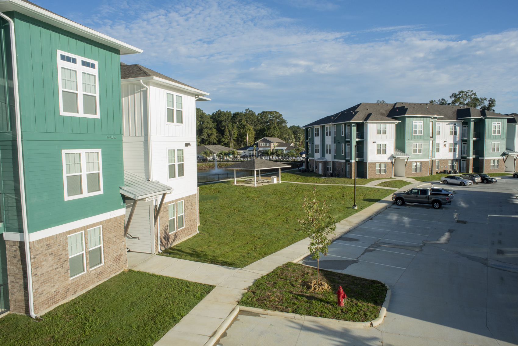 Convenient Parking at The Palms at Juban Lakes Apartments in Denham Springs, Louisiana