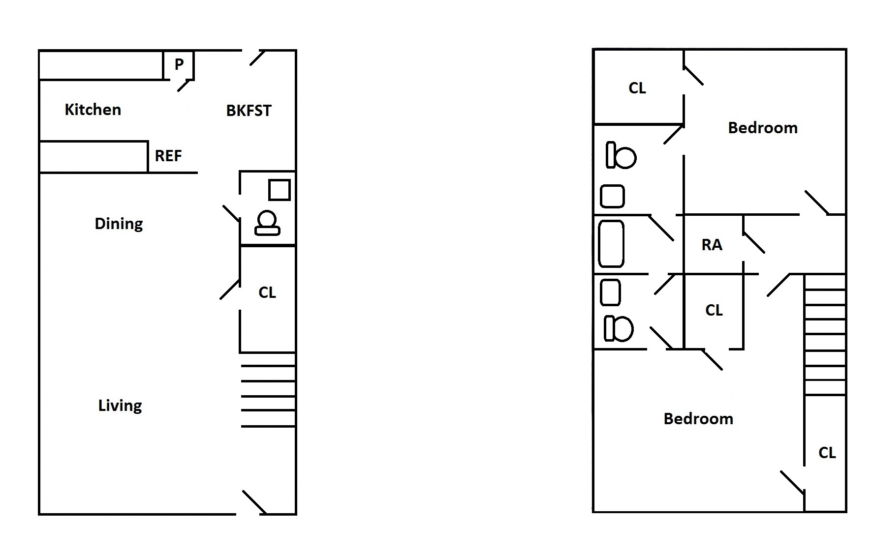 Floorplan - 2 Bedroom Town Home  image