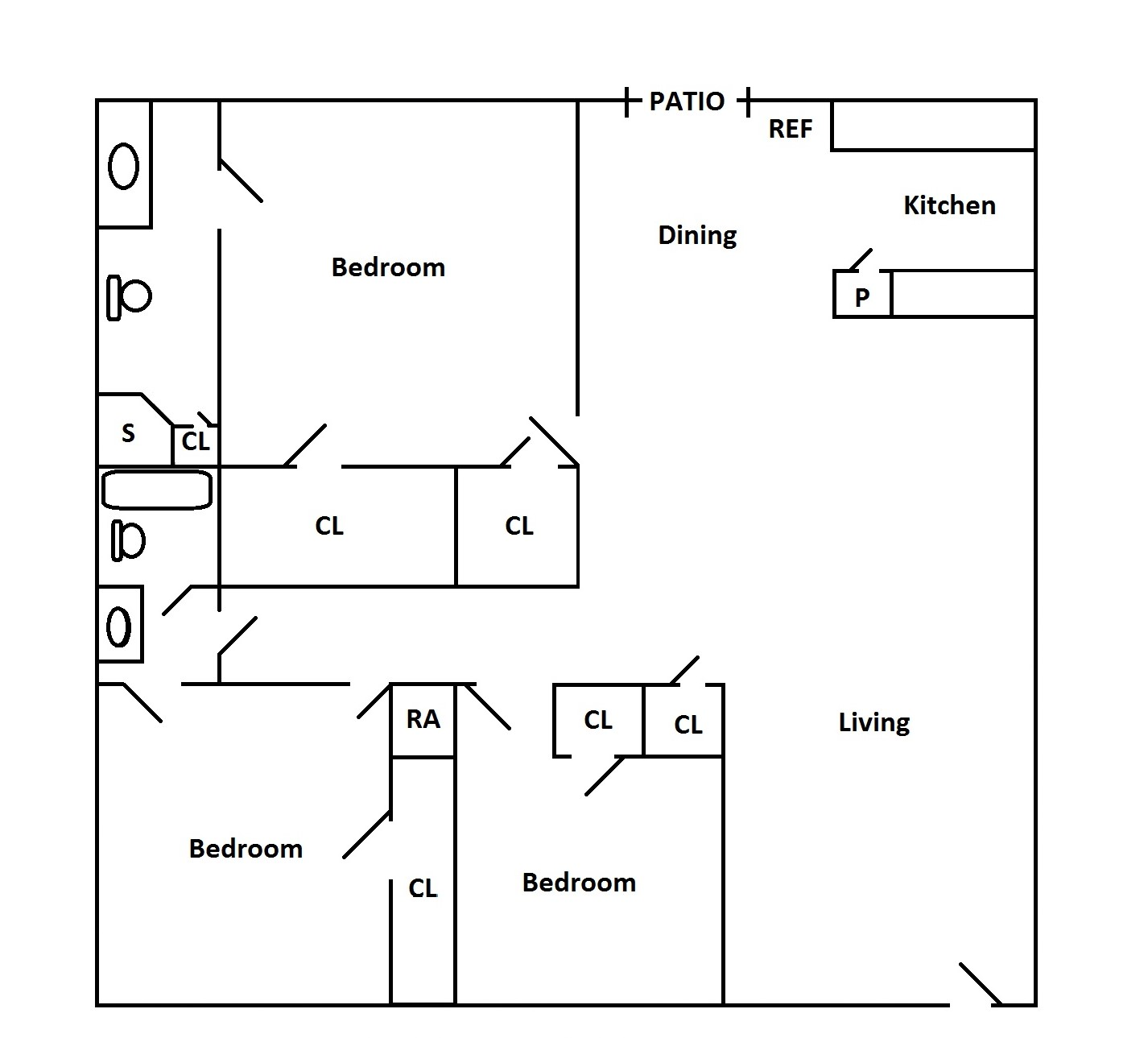 Floorplan - 3 Bedroom image