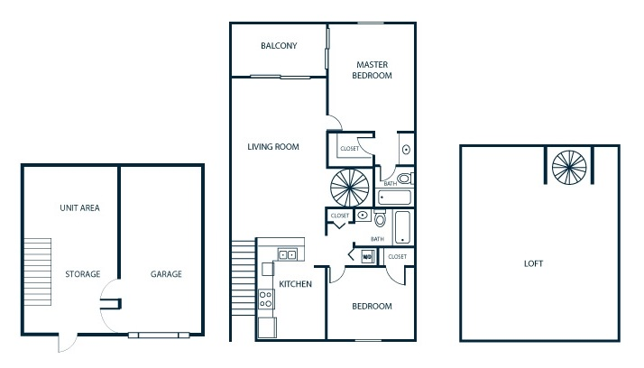 The Park at Chelsea Apartment Homes - Floorplan - Loft