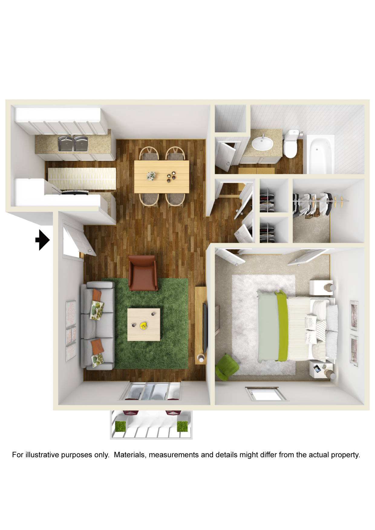 Informative Picture of 1 Bedroom- B