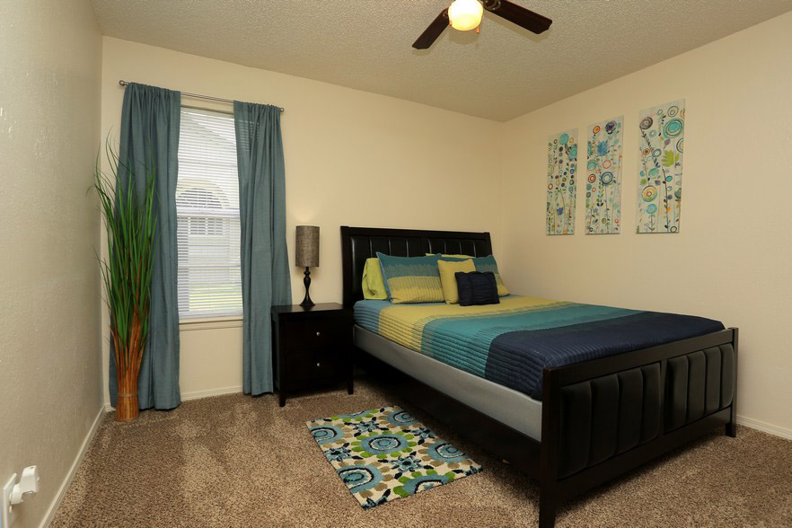Bedroom at The Park at Forest Oaks Apartments in Tulsa, OK