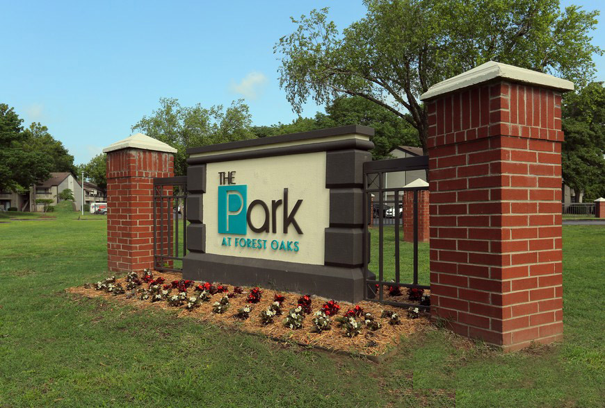 Welcome Sign at The Park at Forest Oaks Apartments in Tulsa, OK