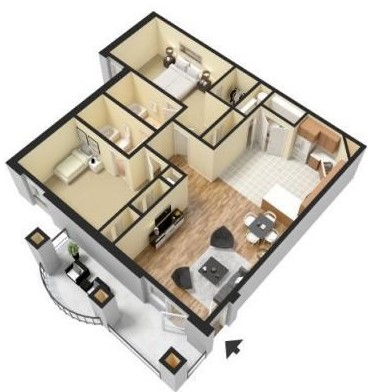 The Park at Forest Hill - Floorplan - B1