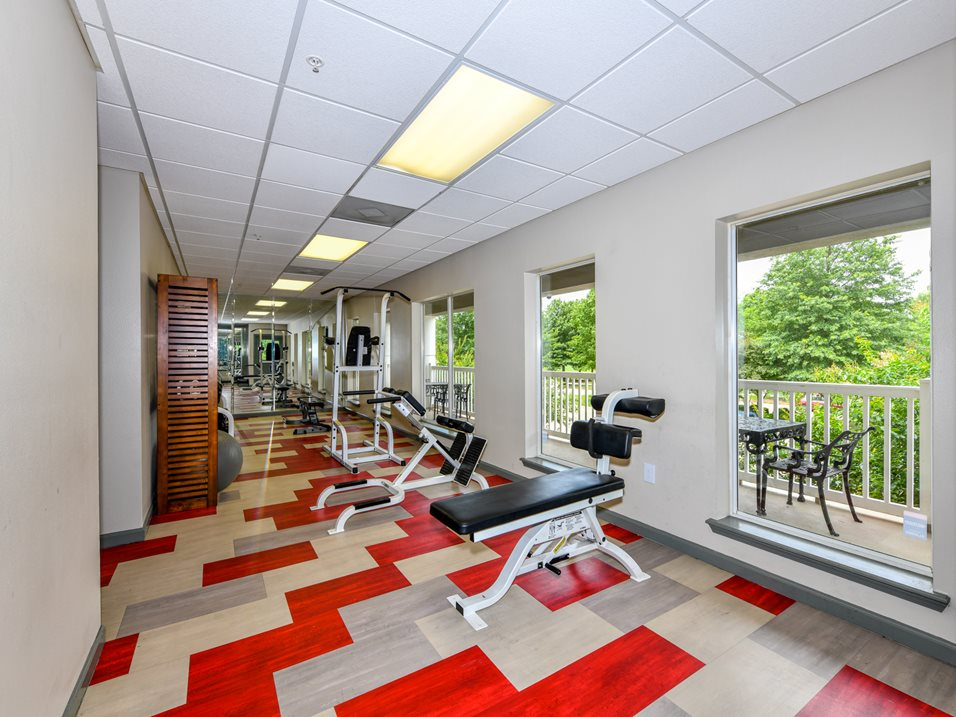 Weight Equipment at The Park at Forest Hill Apartments in Memphis, Tennessee